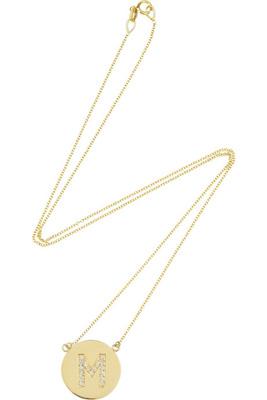 Jennifer Meyer 14-karat Gold Diamond Letter Necklace