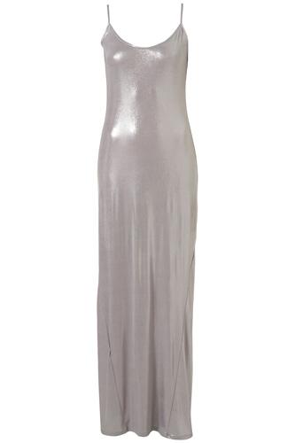 Topshop Silver Strappy Maxi Dress