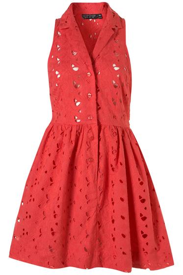 Topshop Crochet Shirt Dress