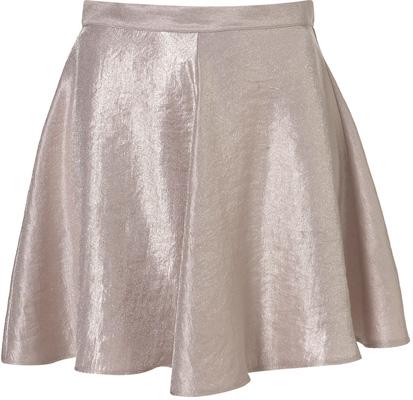 Topshop Shimmer Skater Skirt