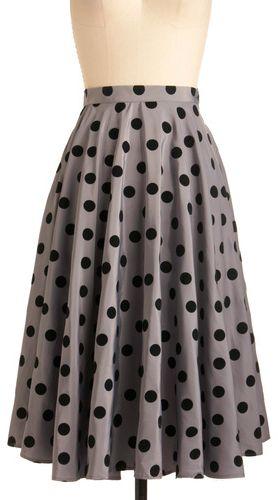 Bettie Page Polka-Dot Skirt