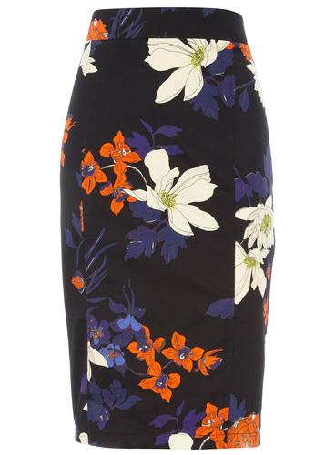 Dorothy Perkins Floral Pencil Skirt