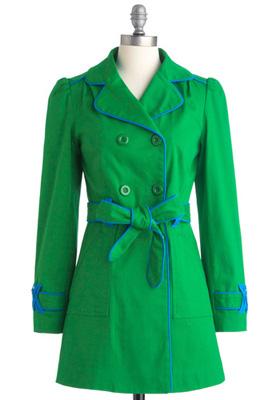 ModCloth Emerald Coat