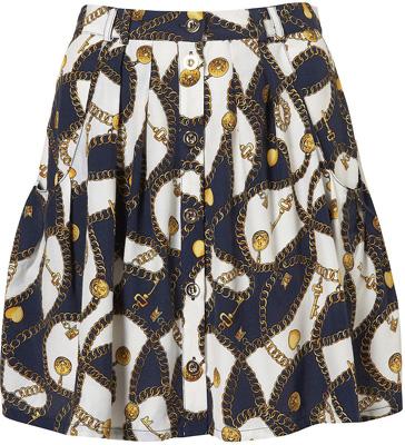 Topshop Chain Print Skirt