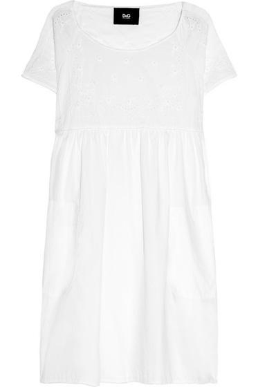 D&G Embroidered Cotton Dress