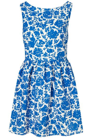 Topshop Floral Lattice Dress
