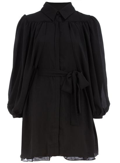 Dorothy Perkins Black Sleeved Collar Dress