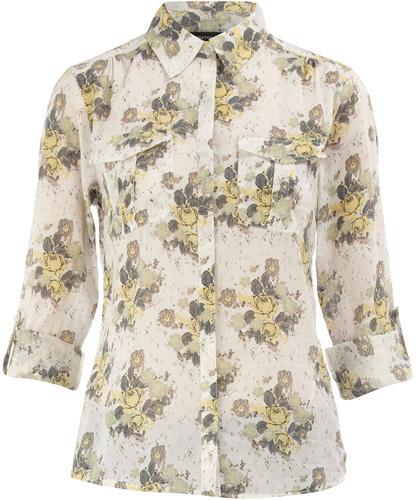 Dorothy Perkins Ivory Floral Shirt