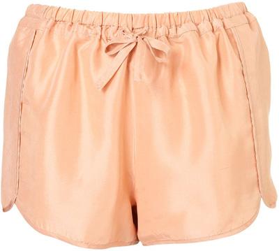 Topshop Silk Runner Shorts