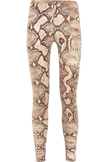 Just Cavalli Snake Print Stretch Leggings