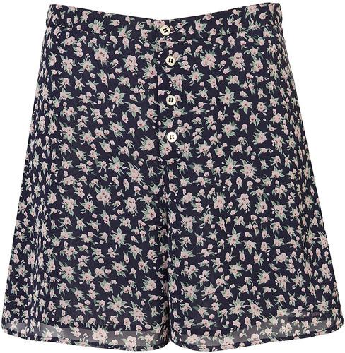Topshop Floral Button through Short