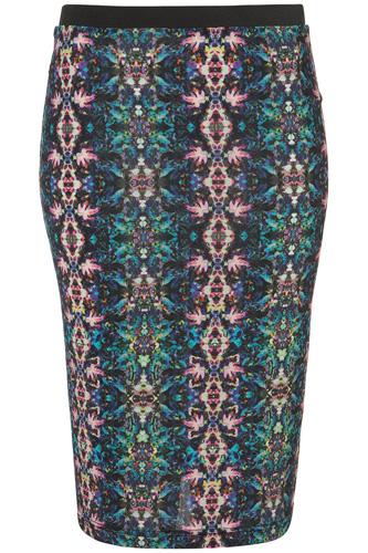 Topshop Kaleidoscope Print Pencil Skirt