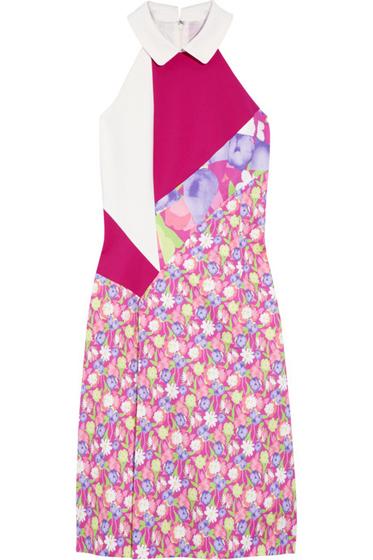 Versus Patchwork Cotton Blend Dress