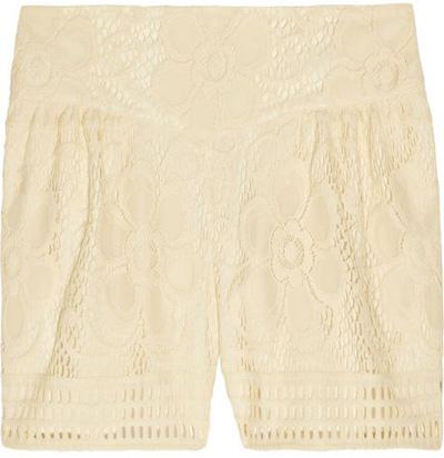 Anna Sui Floral Crochet Shorts