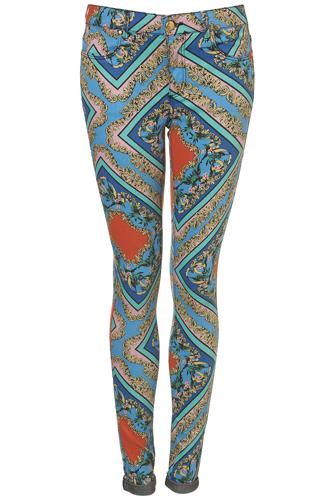 Topshop Moto Baroque Print Jeans