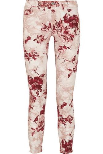 J Brand Denim Printed Skinny Jeans