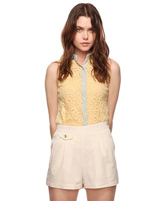 Sleeveless Paisley Shirt