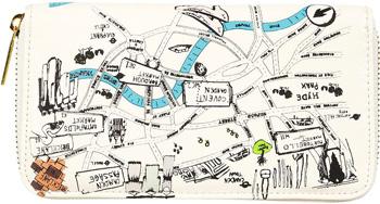 Topshop London Map Purse