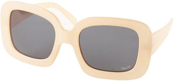 Cream Square Oversize Sunglasses