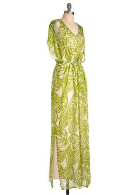Lime Kaftan Dress