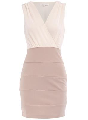 Dorothy Perkins Cream Block Bodycon Dress