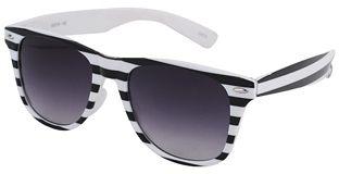 Striped Wayfarer Sunglasses
