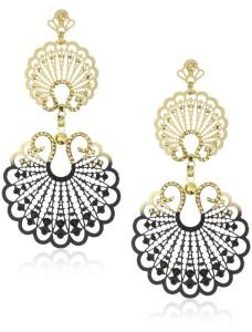 LK Designs Royal Night Two Part Bohemian Seashell Earrings