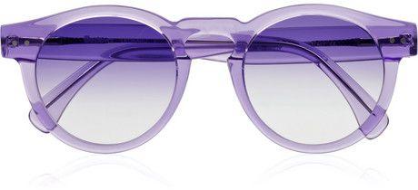 Illesteve round Acetate Sunglasses