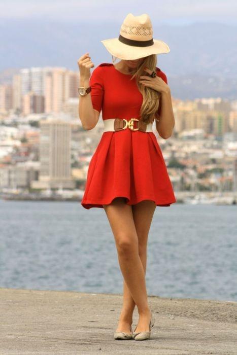clothing,red,dress,spring,fashion,