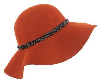Leatherette Braid Wool Hat