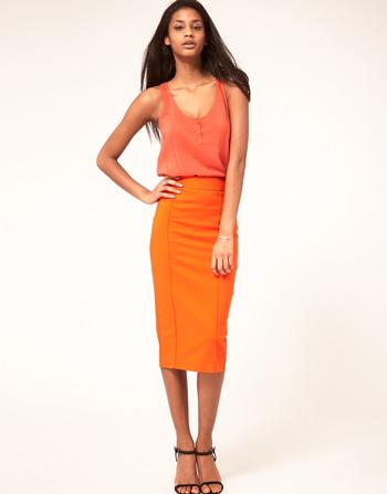 Longer Length Bodycon Pencil Skirt