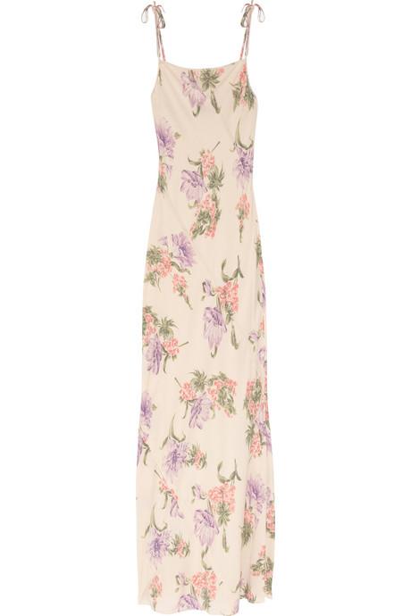 Joseph Hand Painted Silk Maxi Dress