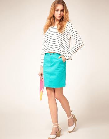 Vero Moda Stretch Denim Skirt
