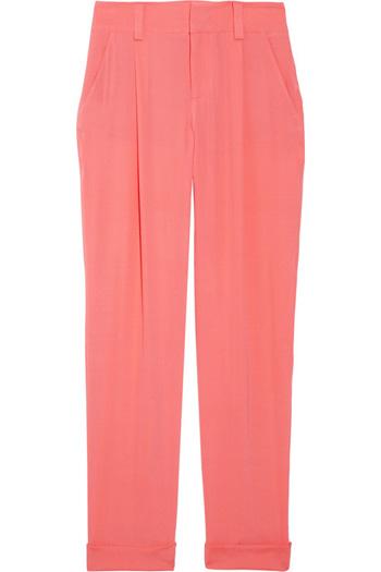 Alice + Olivia Silk-Blend Crepe Pants