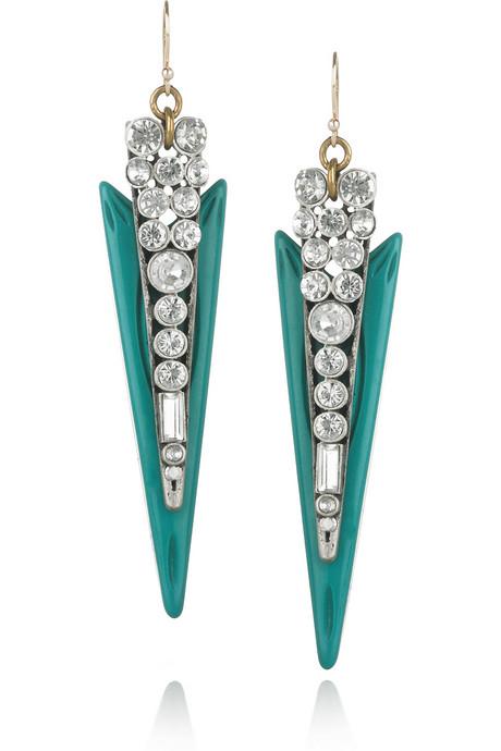Lulu Frost Crystal and Resin Spike Earrings