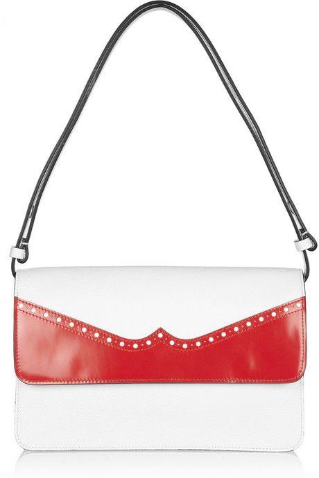 Marni Contrast Trimmed Leather Shoulder Bag