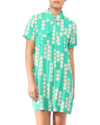 Polka Dot Shirtdress W/ Belt