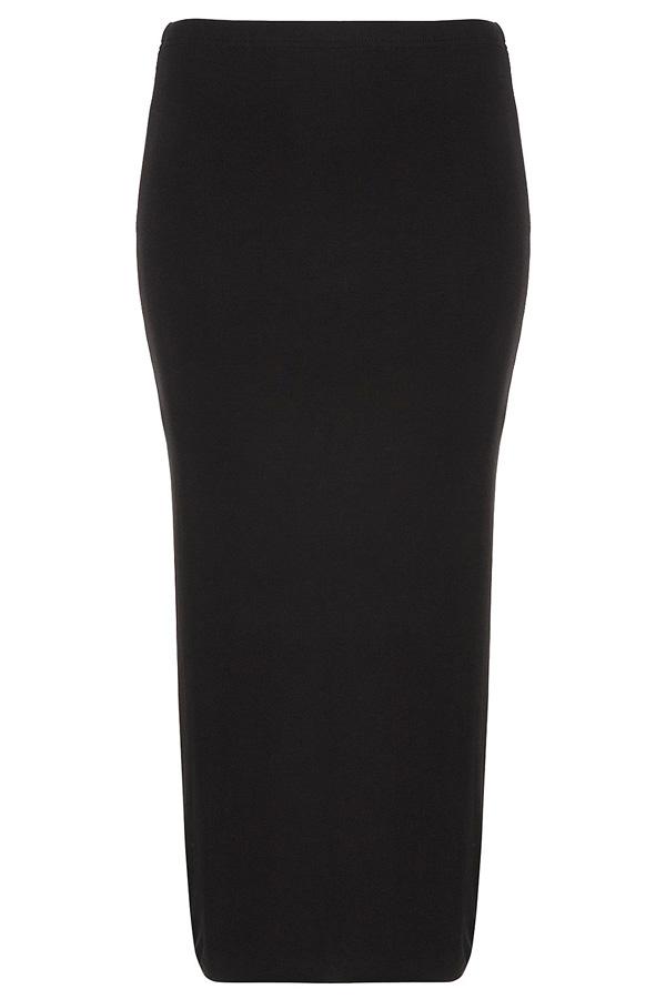 Black Double Layer Tube Skirt