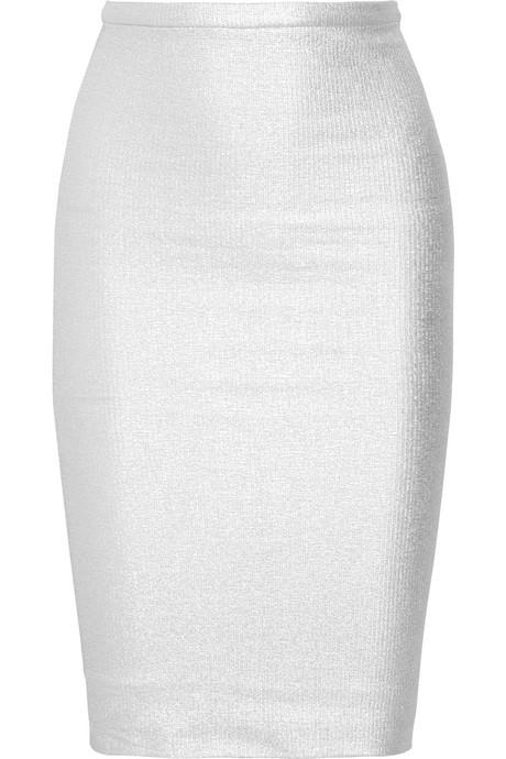Diane Von Furstenberg Metallic Tube Skirt