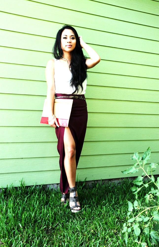 Thigh Split Skirt