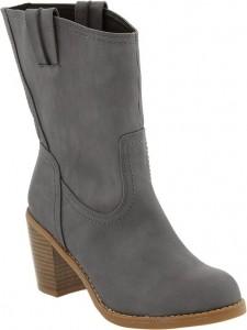 Faux-Leather Cowboy Boots