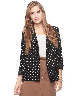 Polka Dot Fashion Blazer