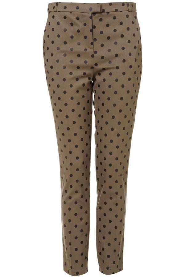 Khaki Flock Spot Trousers