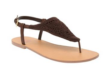 Benefit Brown Crochet Sandals (Wide Width)