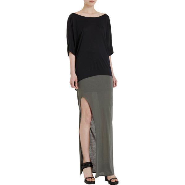 Helmut Lang Kinetic Jersey Slit-Front Skirt