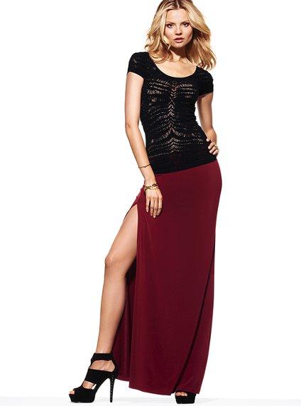 Victoria's Secret Double Slit Maxi Skirt