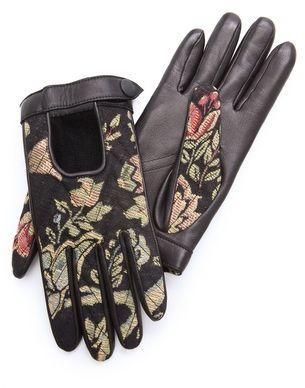 Floral Print Gloves
