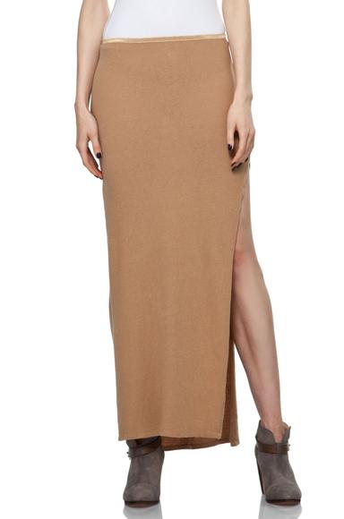 R13 Khaki Slit Skirt