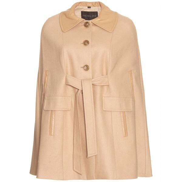 Tie Front Cape Coat