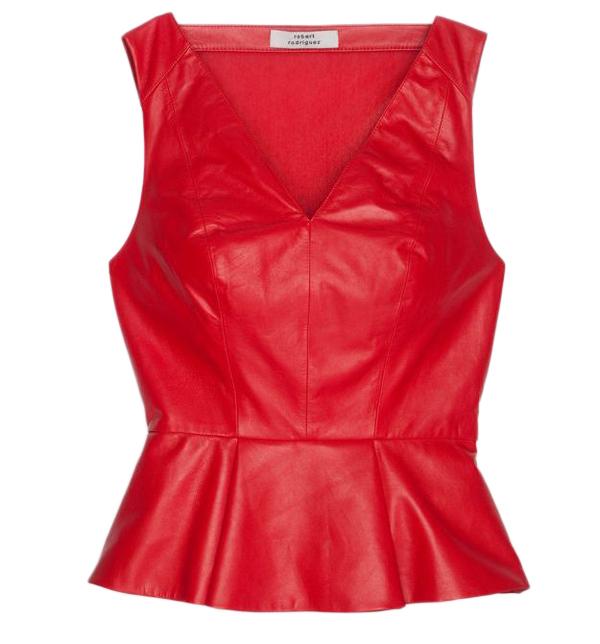Peplum Leather Top
